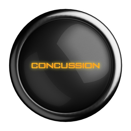 concussion: Word on black button