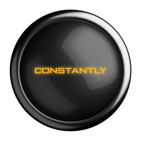 constantly: Word on black button
