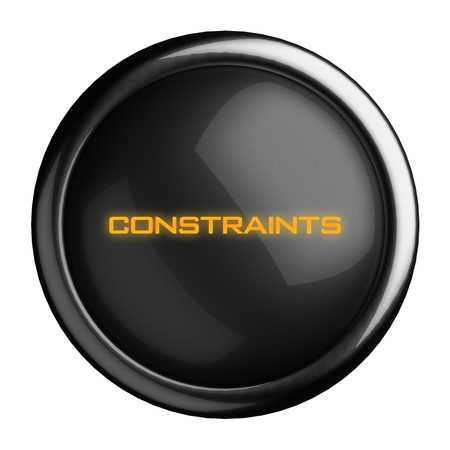 constraints: Word on black button