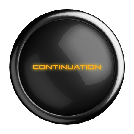 continuation: Word on black button