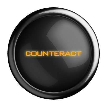 counteract: Word on black button
