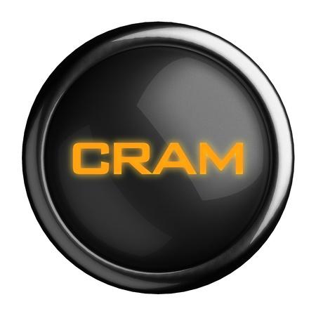 cram: Word on black button