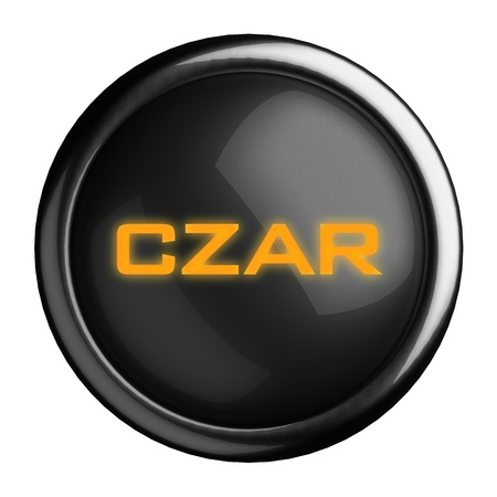 czar: Word on black button
