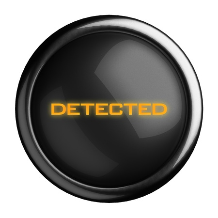 detected: Word on black button
