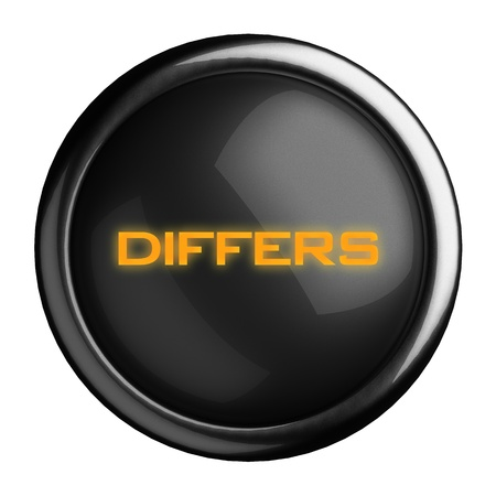 differs: Word on black button