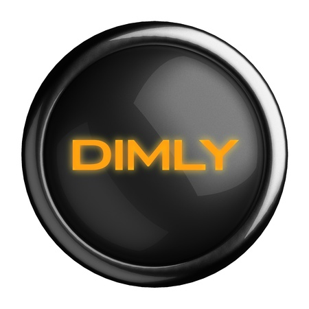 dimly: Word on black button
