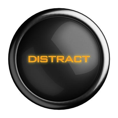 Word on black button photo