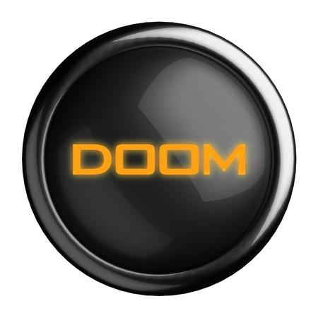 doom: Word on black button