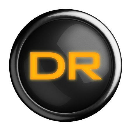 dr: Word on black button