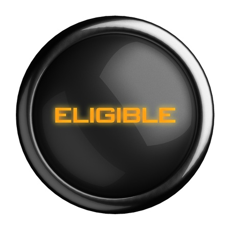 eligible: Word on black button