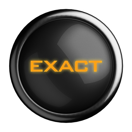 exact: Word on black button