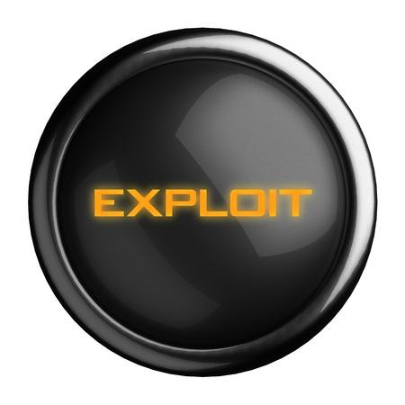 exploit: Word on black button