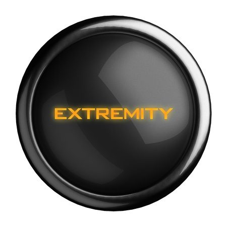 extremity: Word on black button