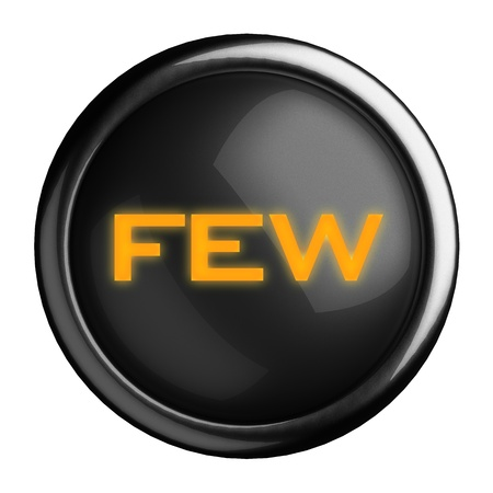 Word on black button photo