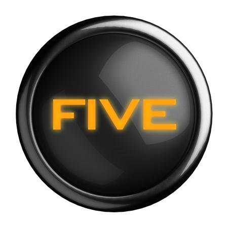 Word on black button Stock Photo - 15666512