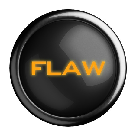 flaw: Word on black button