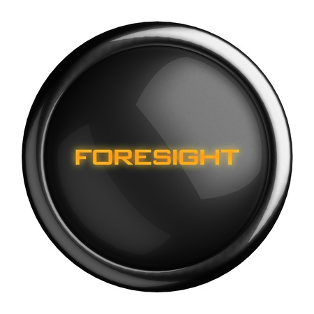 foresight: Word on black button