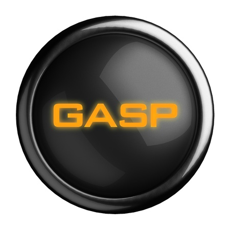 gasp: Word on black button