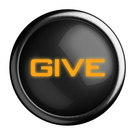 Word on black button Stock Photo - 15666517