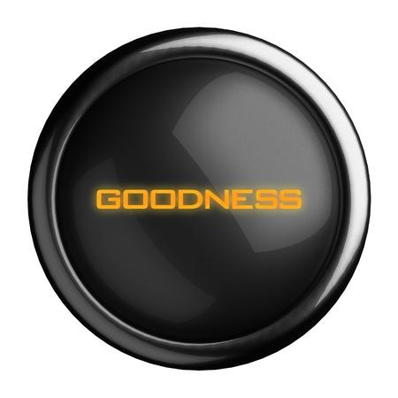 bondad: Palabra en el botón negro