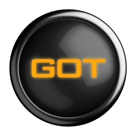 Word on black button Stock Photo - 15666525