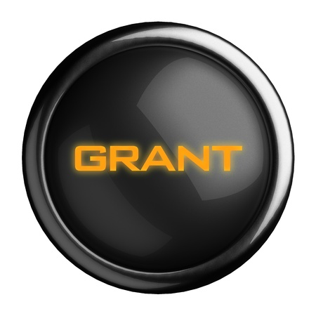 grant: Word on black button