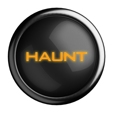 haunt: Word on black button