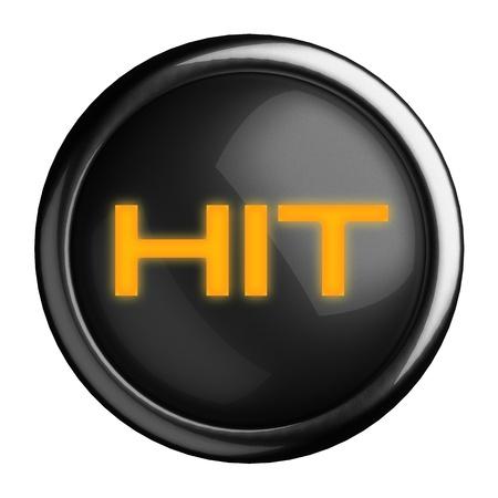 hit tech: Word on black button