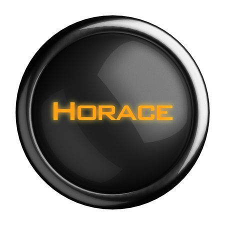 horace: Word on black button