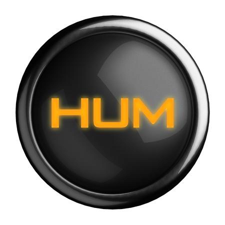 hum: Word on black button