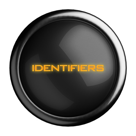 identifiers: Word on black button