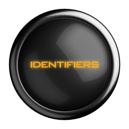 identifiers: Word on black button