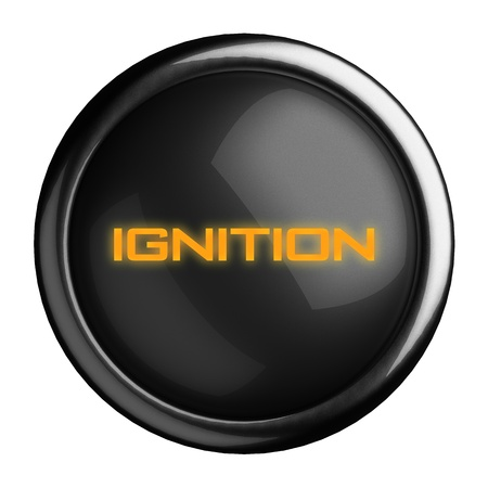 ignition: Word on black button
