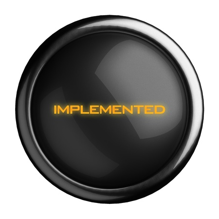 implemented: Word on black button