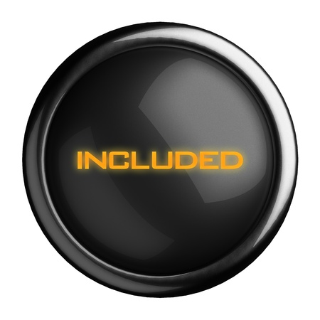 included: Word on black button