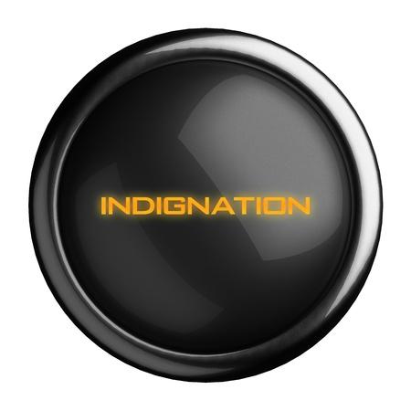 indignation: Word on black button
