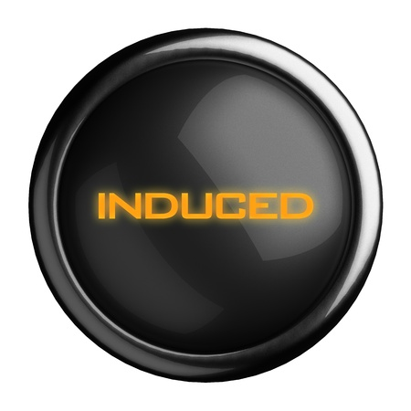 induced: Word on black button