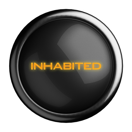 Word on black button Stock Photo - 15710357