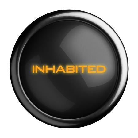 Word on black button Stock Photo - 15710357