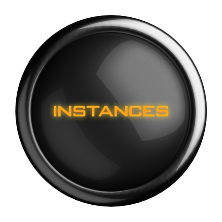 instances: Word on black button