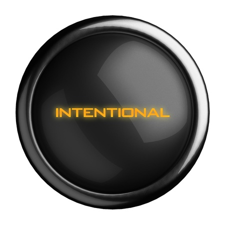 intentional: Word on black button