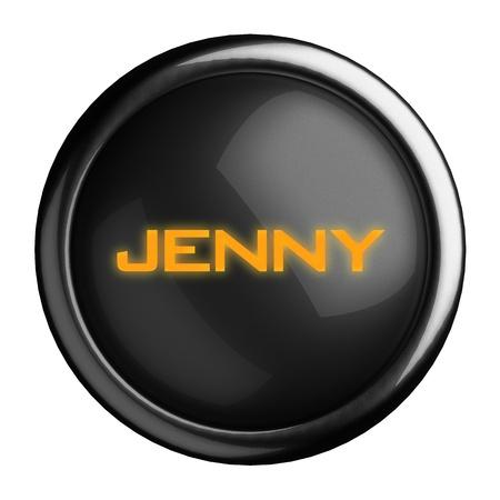 jenny: Word on black button