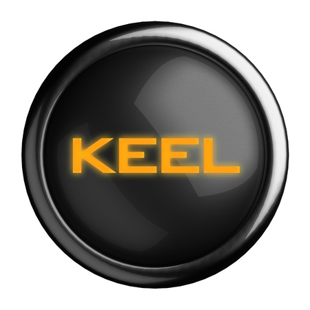keel: Word on black button