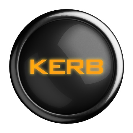 kerb: Word on black button