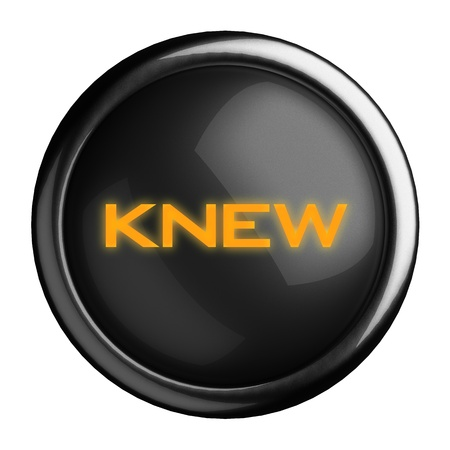 knew: Word on black button