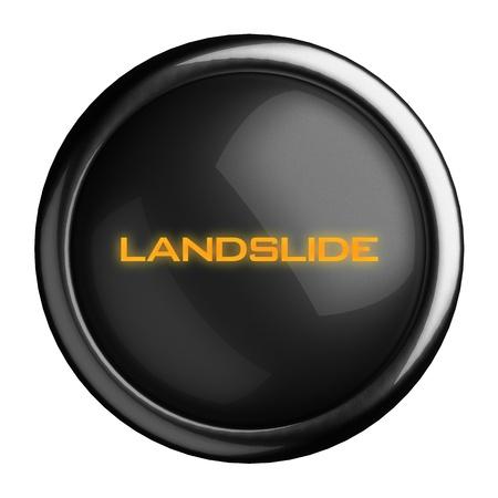 landslide: Word on black button