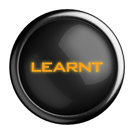 learnt: Word on black button