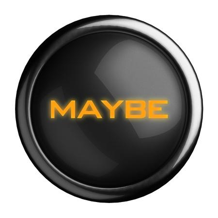Word on black button Stock Photo - 15677042