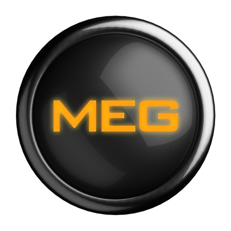 meon: Word on black button