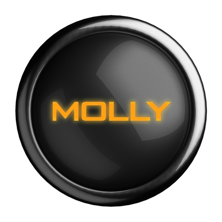 molly: Word on black button